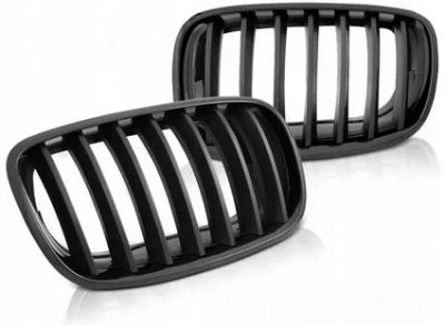 Решетка радиатора на BMW E70/E71 черная глянцевая