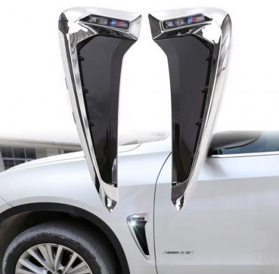 Накладки на крылья-жабры BMW X5 F15 X5M черный + хром