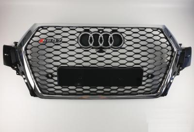 Решетка радиатора Audi Q7 RSQ7 черная + хром (2015-...)