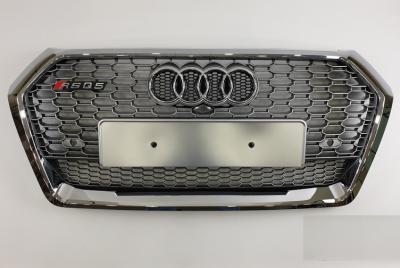 Решетка радиатора Audi Q5 RSQ5 серебро + хром рамка (2017-...)