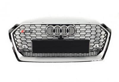 Решетка радиатора Audi A5 RS5 черный + хром рамка (2016-...)