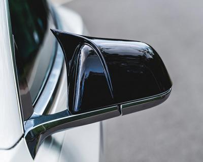 Накладки на зеркала Tesla Model 3, черный глянец