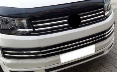 Накладка на решетку радиатора Volkswagen T6 (нержавейка)