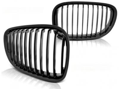 Решетка радиатора для БМВ F01 (черный глянцевый)