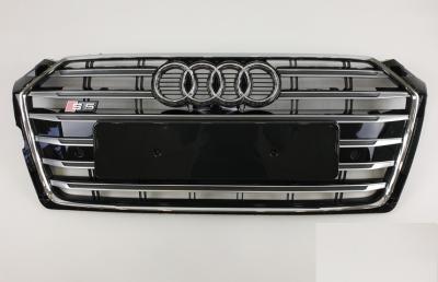 Решетка радиатора Ауди A5 S5, черная + хром (2016-...)