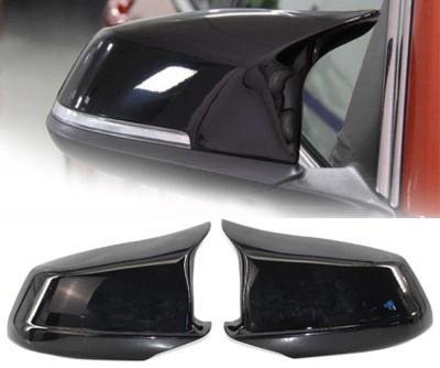 .Накладки на зеркала BMW F10 / F11 / F18, черные глянец, дорестайл