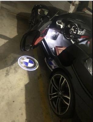 Подсветка дверей с логотипом авто БМВ