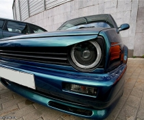 .Ресничка Гольф 2, накладка фар VW Golf 2 бедлук
