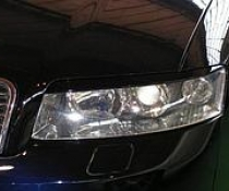 .Реснички, накладки фар Audi A4 b6, верхние