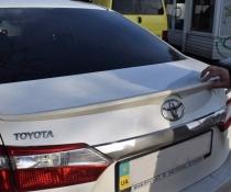 Лип спойлер багажника Toyota Corolla 2013-2018