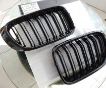 Решетка радиатора (ноздри) BMW X3 F25 / X4 F26 черная глянцевая