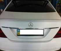 !Спойлер, лип-спойлер на Mercedes W221