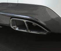 Накладки глушителей BMW 3 серии G20, черные