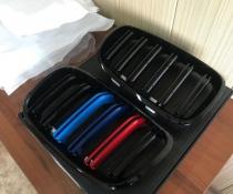 .Решетка радиатора BMW X5 Е70, X6 E71 м стиль, триколор
