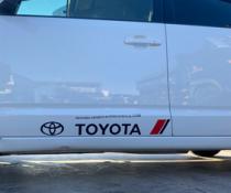 Декоративные наклейки на кузов Тойота