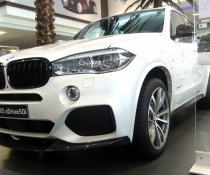 Акция! Накладка переднего бампера BMW X5 F15