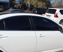 Дефлекторы окон ветровики с хром молдингом KINDLE Mazda 6 (2008-2012)