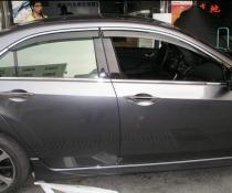 Дефлекторы окон ветровики с хром молдингом KINDLE Honda Accord 8