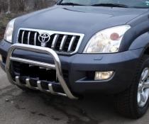 Защита переднего бампера (кенгурятник) Toyota Land Cruiser Prado 120