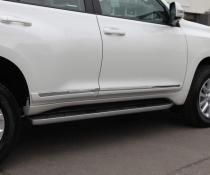 Молдинги на двери Lexus GX 460 / Toyota Land Cruiser Prado 150 белый перламутр