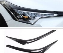 Карбоновые реснички, накладки фар Toyota CH-R
