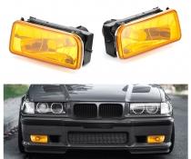 .Противотуманки на BMW E36 желтые