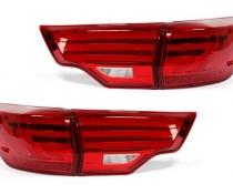 Оптика задняя, фонари на Toyota Highlander II (2014-2017)