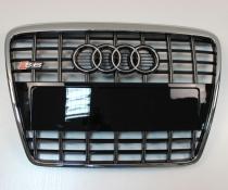 .Решетка радиатора AUDI A6 C6 черная c хромом, стиль S6