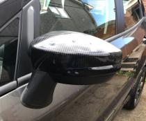Накладки на зеркала Ford Kuga II, под карбон (2013-2018)