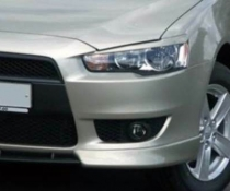 .Реснички Mitsubishi Lancer X, накладки фар Лансер 10