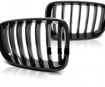 .Решетка радиатора для БМВ X3 F25, дорестайл (черный глянцевый)