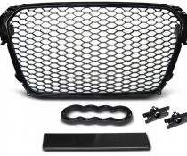 .Решетка радиатора AUDI A4 B8 в стиле RS черная