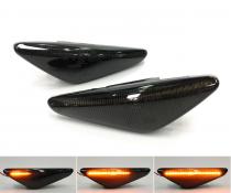 Динамические светодиодные указатели поворота BMW X3 F25, X5 E70, X6 E71 дымчатые